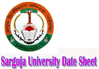 Sarguja University Time Table 2018