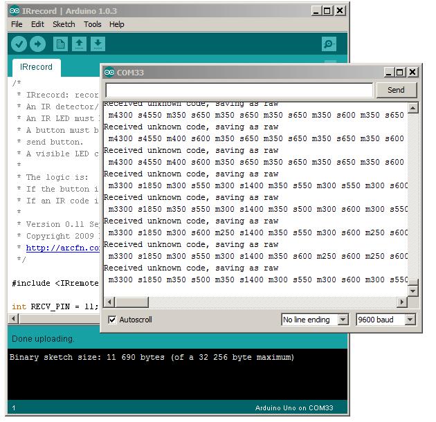 Arduino IR remote library | Patrik Thalin