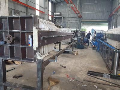 Máy ép bùn khung bản sản xuất hoàn toàn tại Việt Nam với chất lượng cao