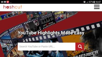 شرح موقع Hashcut تحميل و قص اي جزء تريده من اي فيديو على اليوتيوب