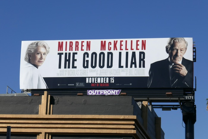Good Liar movie billboard