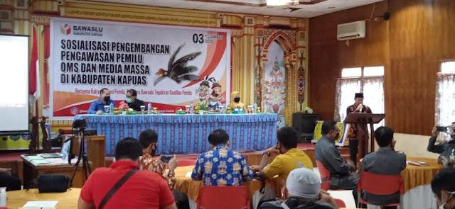 Bawaslu Kapuas Gandeng Media Massa Awasi Pilgub Kalteng 2020