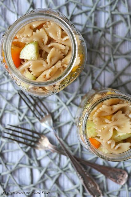 Sommerlicher Nudelsalat | Rezept | Kochen | Grillbeilage | Essen | Weight Watchers