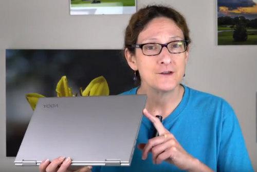 "Lisa Gade Holding The 13"" Lenovo Yoga 13"" Review"