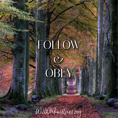 Follow and Obey #w2wministries #obedience #obey #follow #followGod