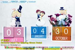 Kalender Abadi The Wedding Warna Pastel