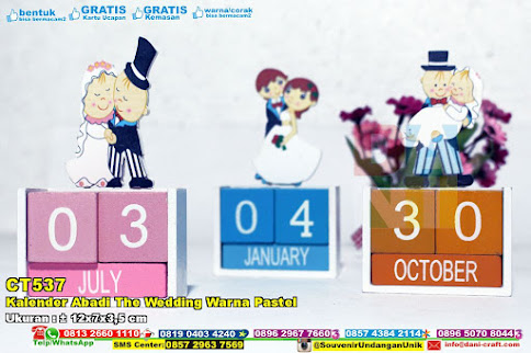 Kalender Abadi The Wedding Warna Pastel
