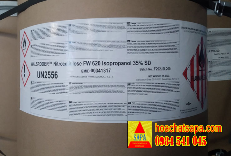 WALSRODER™ Nitrocellulose FW 620 Isopropanol 35% SD (Nitro Dow)