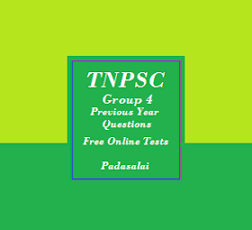 TNPSC Group 4 - Free Online Tests For Previous Year Question Papers (Tamil Medium)