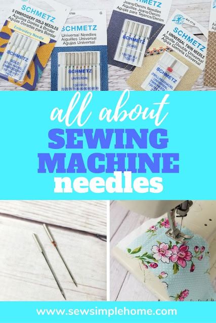 Learn all about sewing machine needles and what size sewing machine needle to use for what fabric.