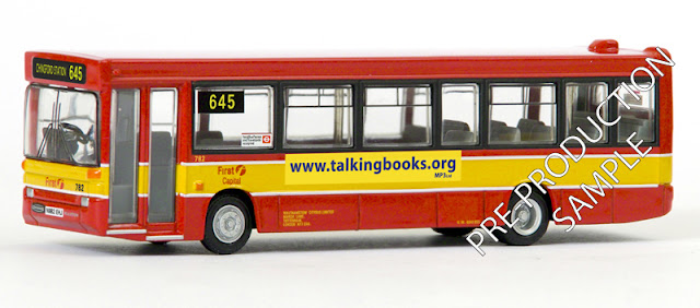 Exclusive First Editions: 20651 - Plaxton Pointer Dart – First Capital Citybus Registration number N982 EHJ, fleet number 782. Works route 645 to Chingford Station. Scheduled for an April release RRP £34.50