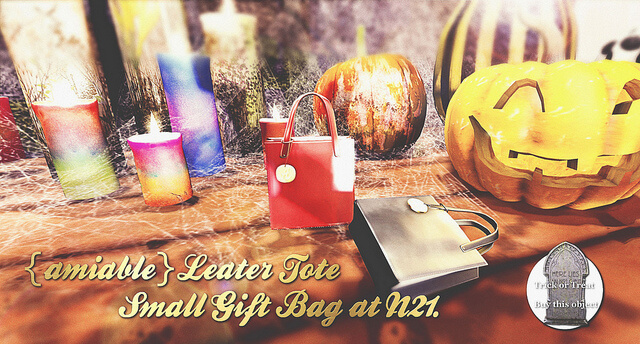 {amiable}Leater Tote Small Gift Bag@N°21.