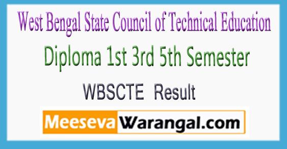 WBSCTE Diploma 1st 3rd 5th Semester Result 2017-18