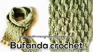 Bufanda de abanicos a crochet con patrones