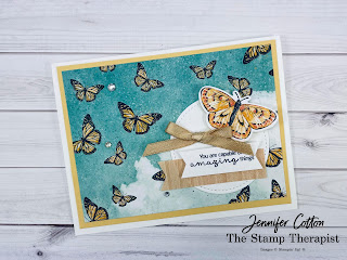 Butterfly Brilliance Bundle by Stampin' Up!.  Also uses the Hydrangea Haven stamp set.  #StampinUp #StampTherapist #ButterflyBrilliance