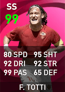 Max Rating PES 2021 Francesco Totti (Iconic Moment, 99)