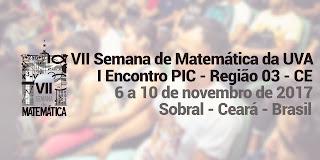 Apresentação de Trabalhos na VII Semana de Matemática da Universidade Estadual Vale do Acaraú