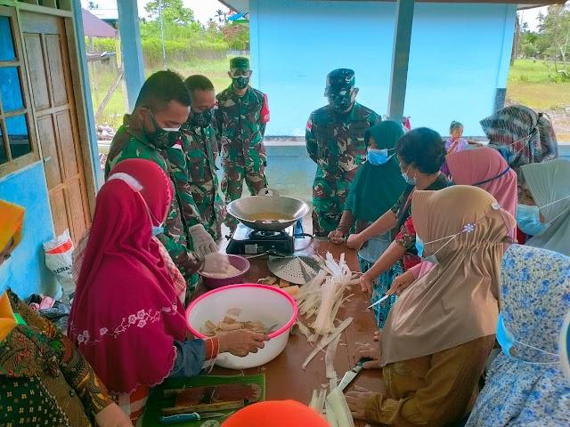 Penyuluhan Home Industri untuk Warga Binaan Di Tapal Batas oleh Satgas Pamtas Yonif 512/QY
