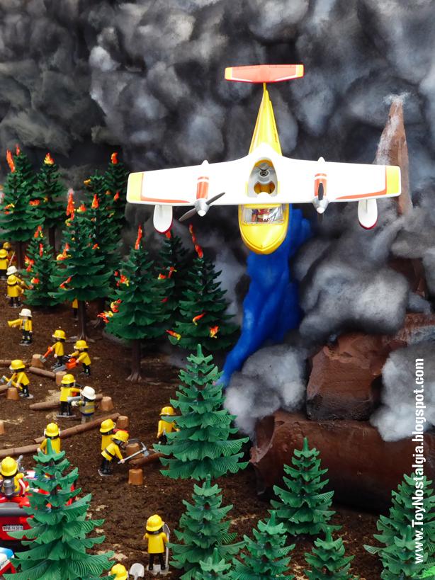 Diorama Playmobil Bomberos City Action  Incendio Forestal (Fira Sabadell - 2019)