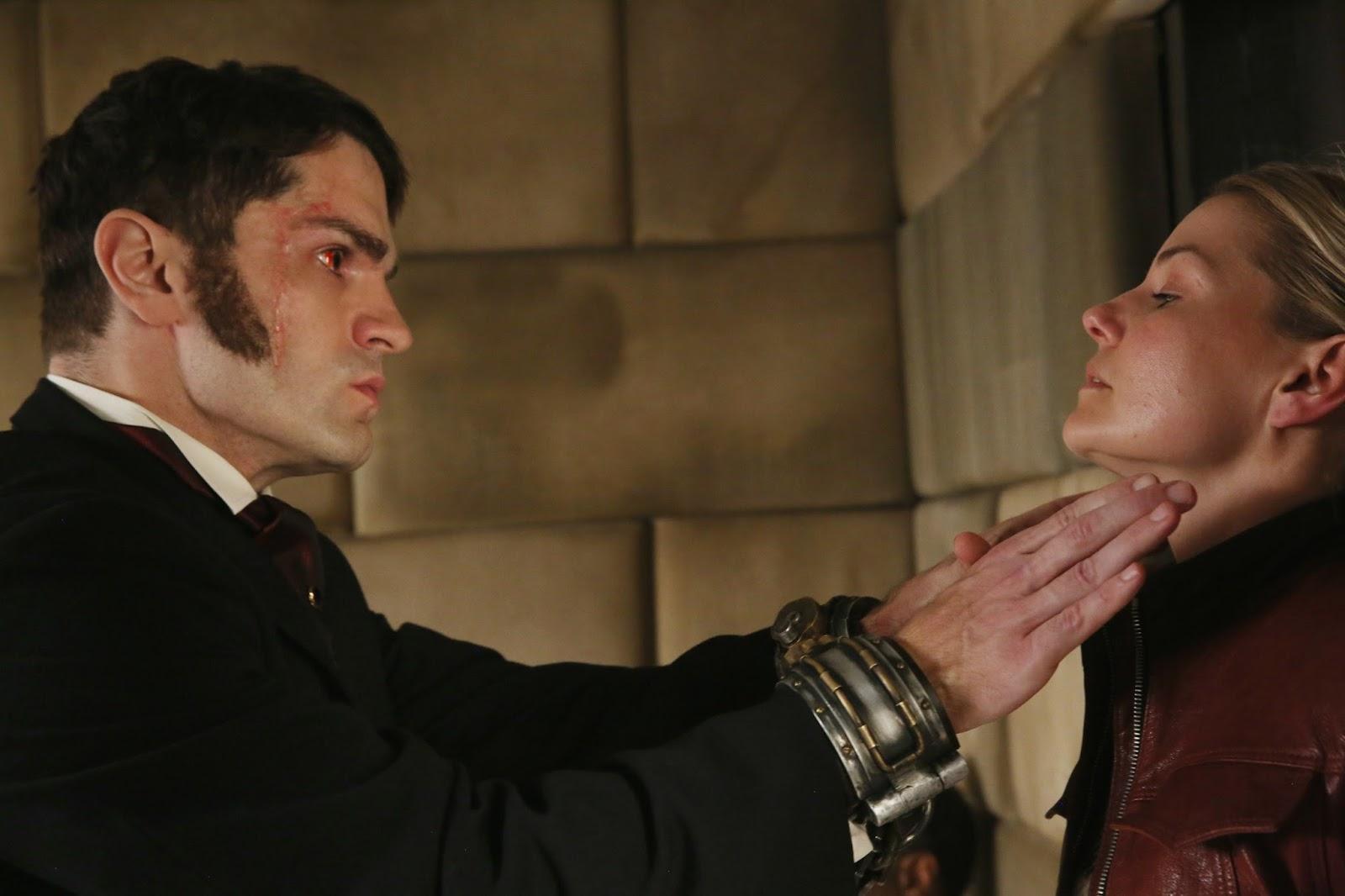 OUAT 6x01. Mr. Hyde amenaza a Emma con no contarle lo que sabe en su prisión