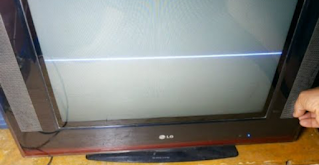 The appearance of a line in the middle of the CRT TV screen: causes and solutions