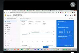 tampilan google analytics blog