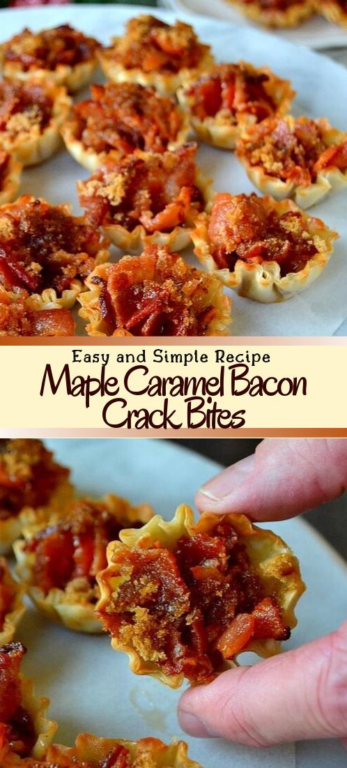 Maple Caramel Bacon Crack Bites #healthyfood #dietketo #breakfast #food