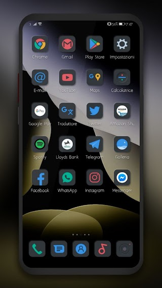 Dark gold ios by Alex Style