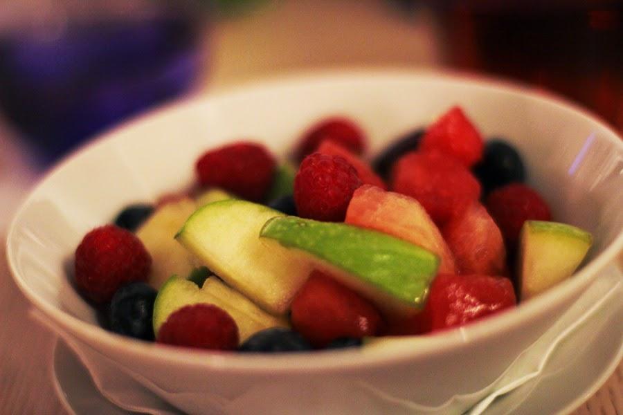 vegan obstsalat essen gesund
