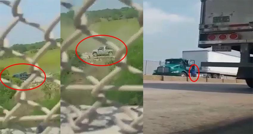 VÍDEO: Balacera y persecución entre el CDG y militares en Reynosa, captan el momento en que bala impacta el brazo a trailero durante el enfrentamiento