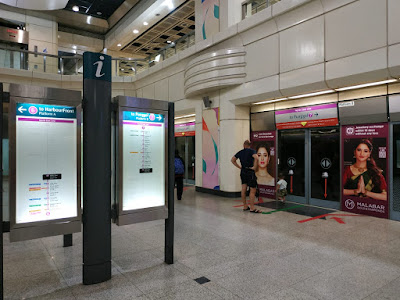 pengalaman menggunakan MRT Singapura