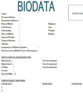 simple biodata format pdf