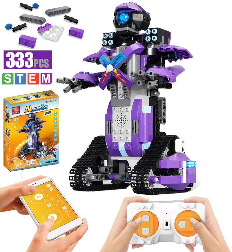 40% OFF + 8% coupon  Ritastar Remote Control STEM  Block  Building Robot