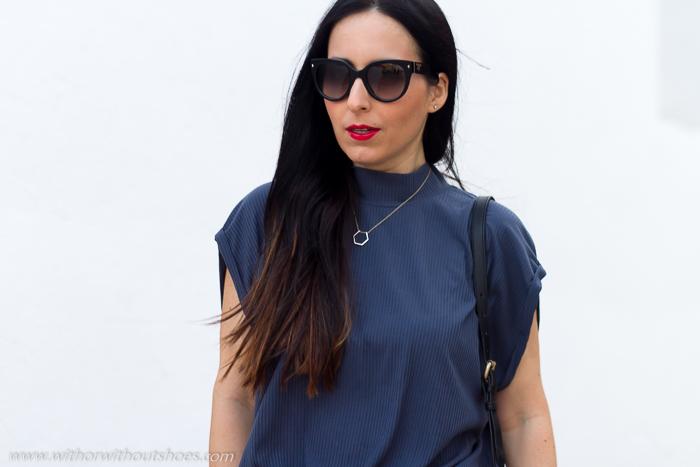 Bloguera española influencers moda SELECTED FEMME Vestido Tejido plisado