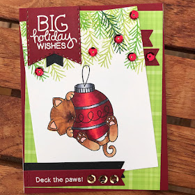 Big holiday wishes by Marianne features Ornamental Newton by Newton's Nook Designs; #newtonsnook