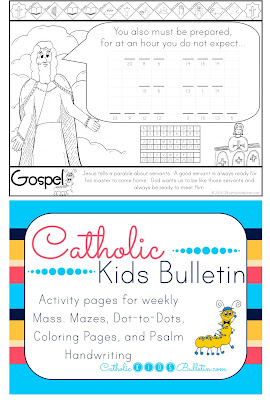 Catholic Kids Bulletin Coloring Page Luke 12.32-48