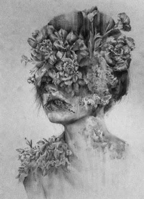 Retrato de mujer en escala de grises