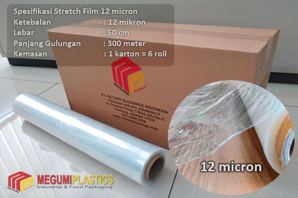 Jual Stretch Film 12 micron x 50 cm x 300 m