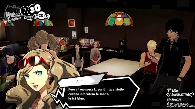 Ann Reflexión Reunión Persona 5 Strikers