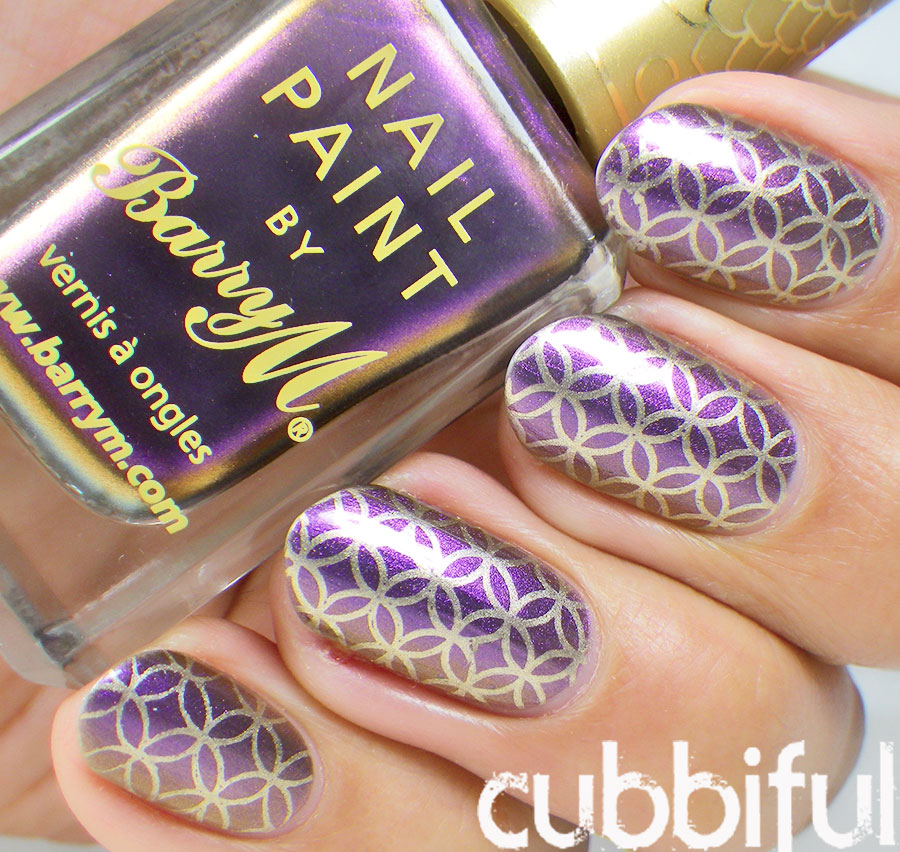 Stamping Pattern with Barry M Gold Foil Effects and BP-13 Stamping Plate