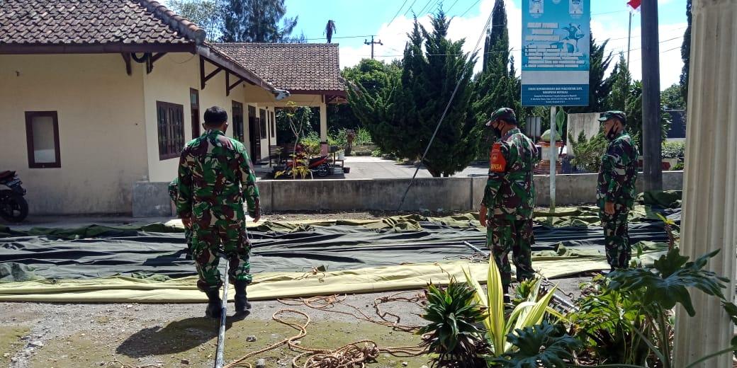 INDES-SOLORAYA-SOSIAL-TNI BOYOLALI ANTISIPASI KEMUNGKINAN BENCANA MERAPI