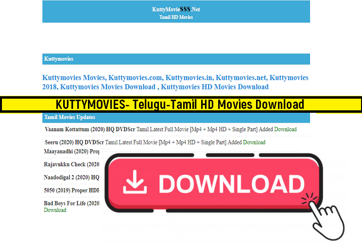 Kuttymovies 2020 – Telugu-Tamil Movies Collection -HD Movies Download