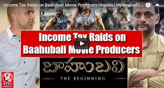 Income Tax Raids on Baahubali Movie Producers Houses  Hyderabad