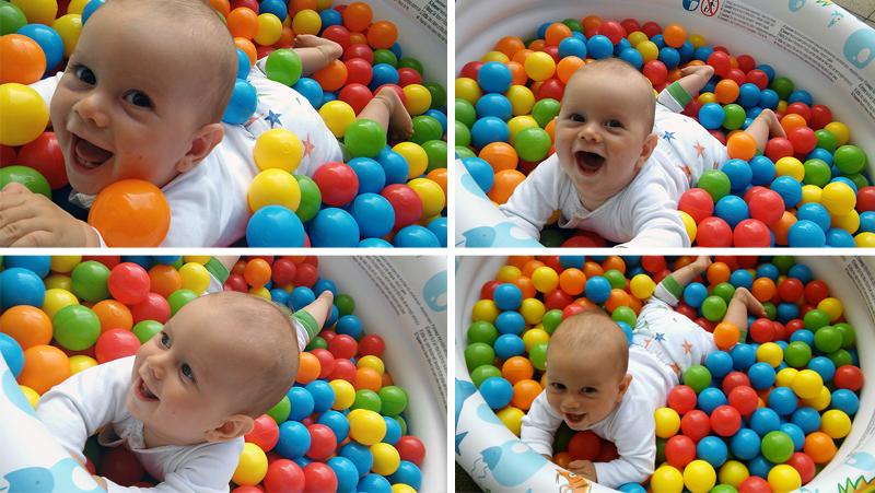 Zabawy dla niemowlaków.