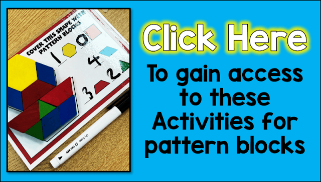 Free Pattern block activity cards that are perfect for your fast finishers.