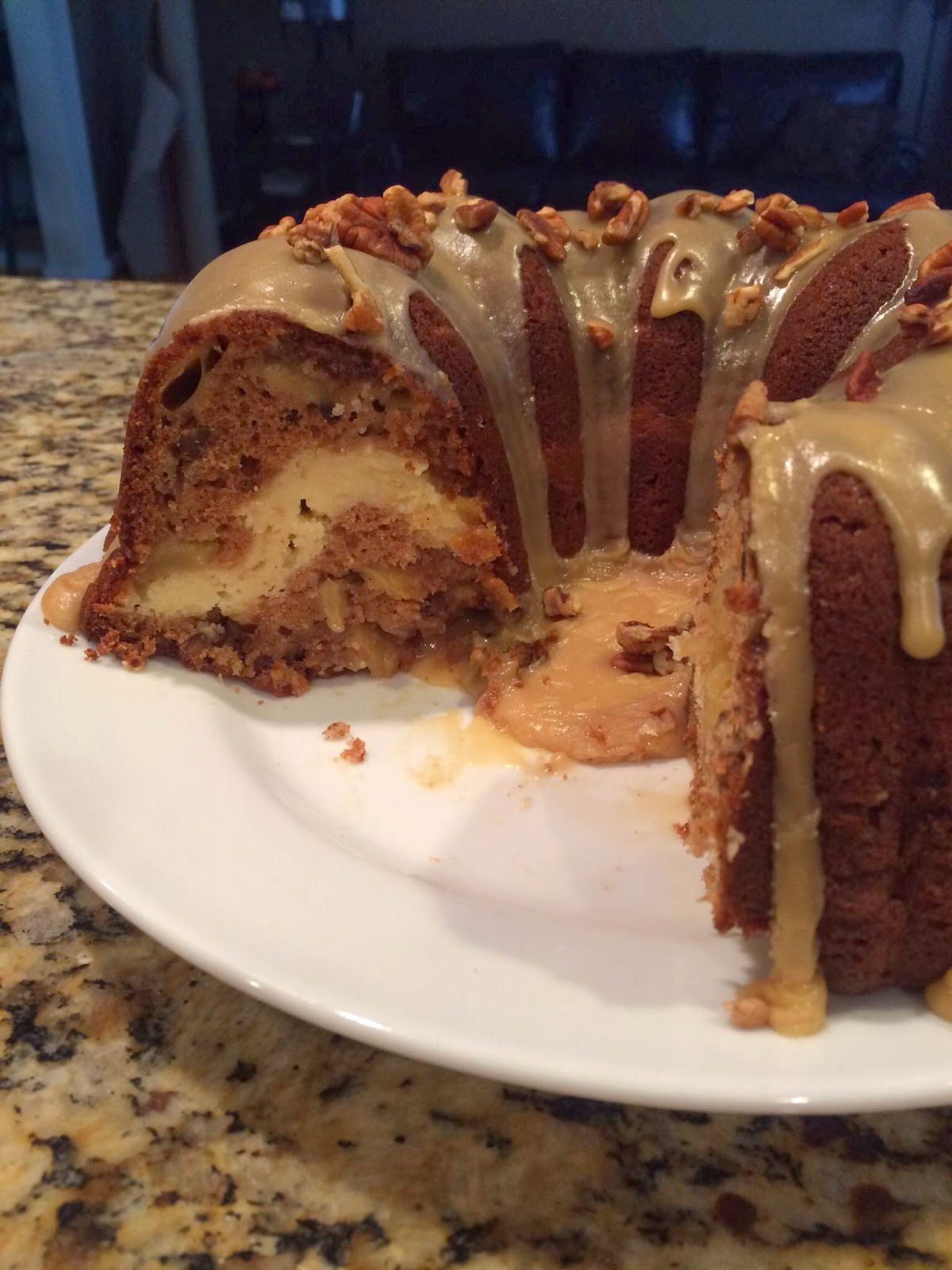 Holiday Baking Southern Apple Cream Cheese Bundt Cake