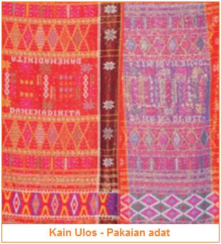 Fungsi kerajinan tekstil sebagai kelengkapan ritual - pakaian adat kain ulos