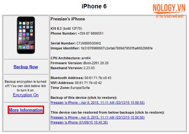 kiểm tra tình trạng pin iphone 6