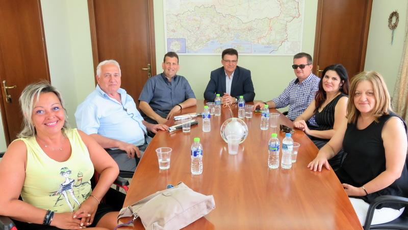 Συνάντηση Πέτροβιτς με το Δ.Σ. της Περιφερειακής Ομοσπονδίας Ατόμων με Αναπηρία ΑΜ-Θ