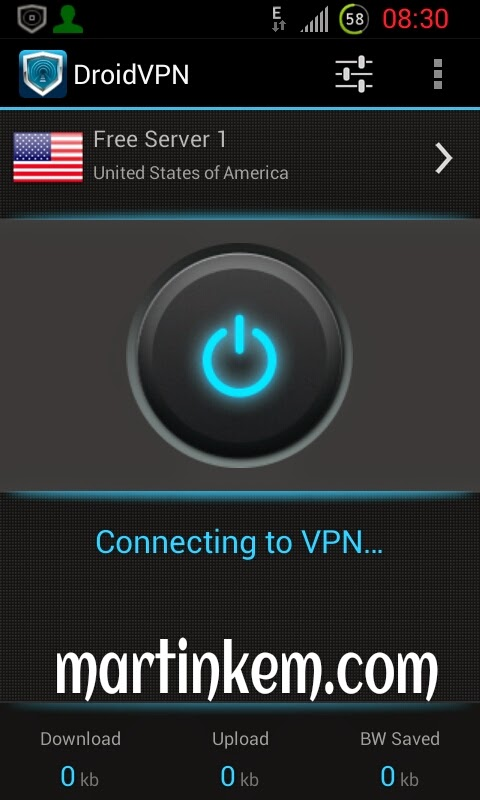 How to browse free with droidvpn
